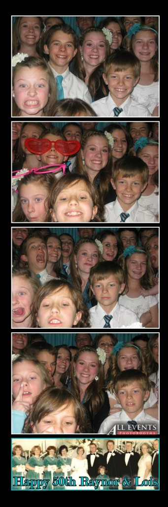 Grandchildren in the photo booth
