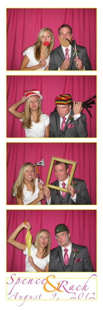 Rachel and Spencer in the Photo Booth