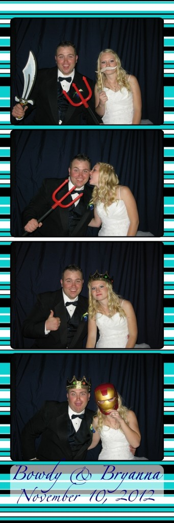 Bowdy and Bryanna in the Photo Booth