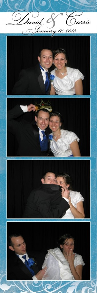 Carrie and David in the photo booth