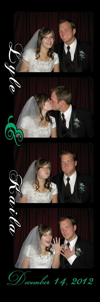 Kaila and Lyle in the photo booth