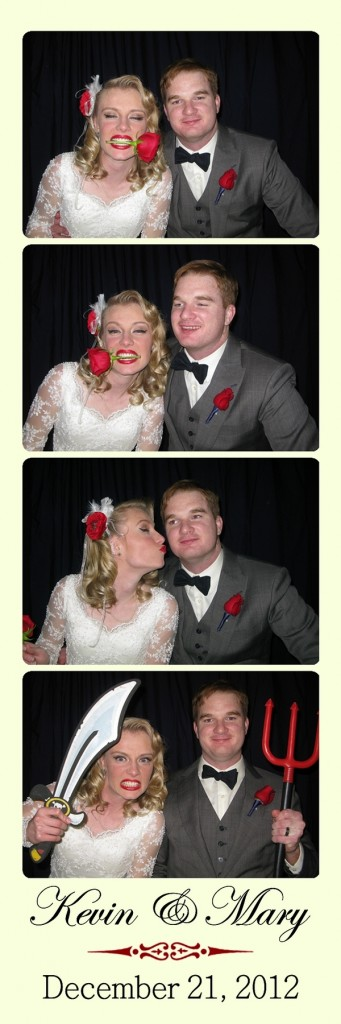 Kevin & Mary in the photo booth